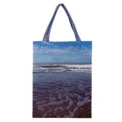 Ocean Surf Beach Waves Classic Tote Bag by CrypticFragmentsColors