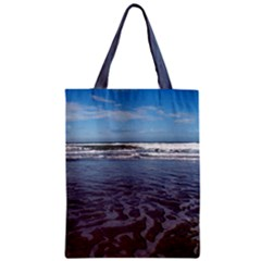 Ocean Surf Beach Waves Zipper Classic Tote Bag by CrypticFragmentsColors