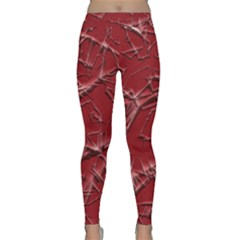 Thorny Abstract,red Yoga Leggings by MoreColorsinLife