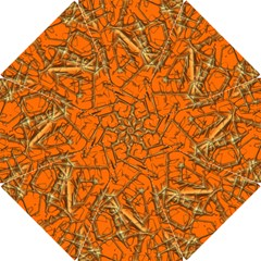 Thorny Abstract, Orange Hook Handle Umbrellas (small) by MoreColorsinLife