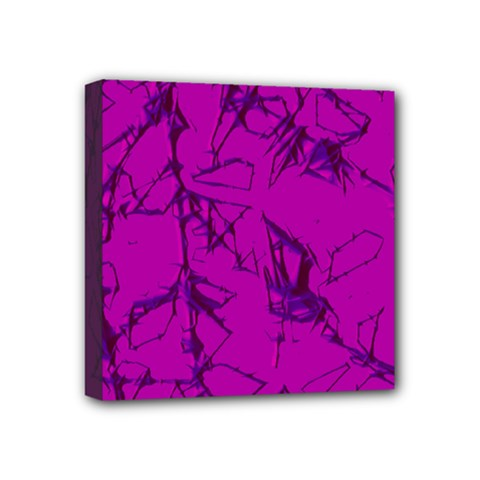 Thorny Abstract,hot Pink Mini Canvas 4  X 4  by MoreColorsinLife