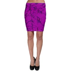 Thorny Abstract,hot Pink Bodycon Skirt by MoreColorsinLife