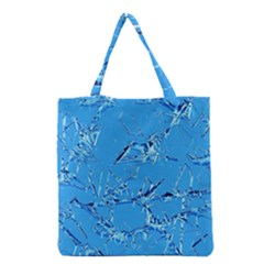 Thorny Abstract,ice Blue Grocery Tote Bag by MoreColorsinLife