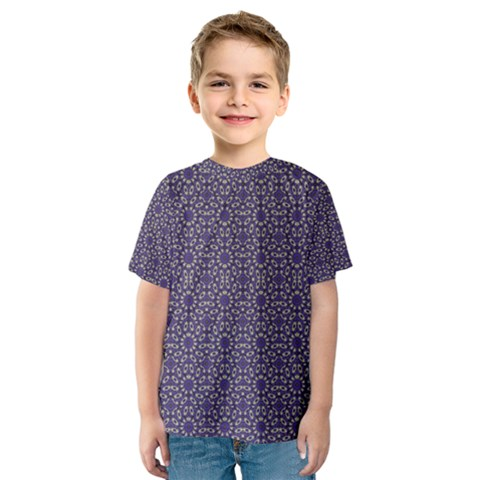 Stylized Floral Check Kid s Sport Mesh Tee by dflcprintsclothing