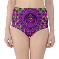 Love For The Fruit And Stars In The Milky Way High Waist Bikini Bottoms by pepitasart