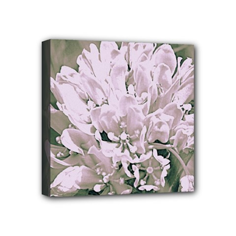 White Flower Mini Canvas 4  X 4  by uniquedesignsbycassie