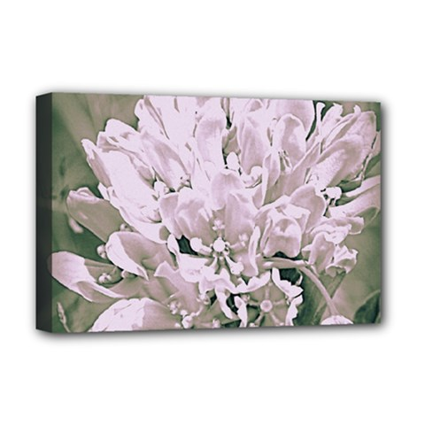 White Flower Deluxe Canvas 18  X 12   by uniquedesignsbycassie