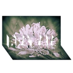 White Flower Best Sis 3d Greeting Card (8x4)
