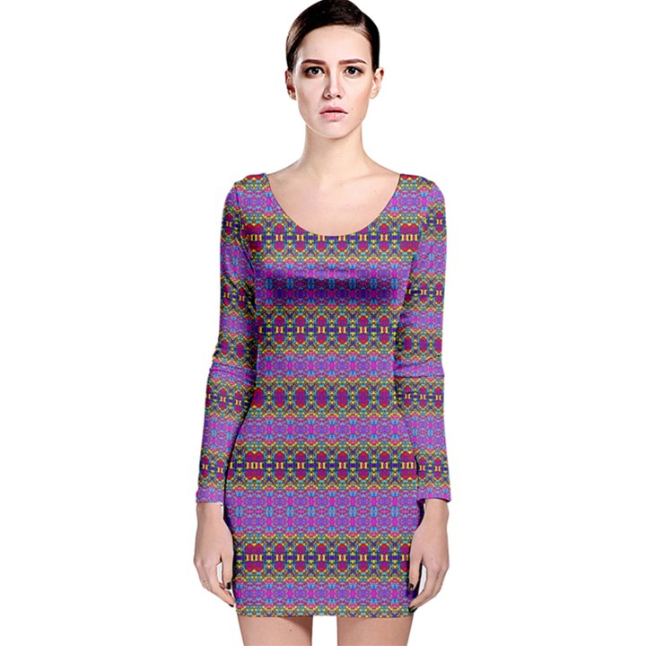 Renegade Mars Long Sleeve Velvet Bodycon Dress