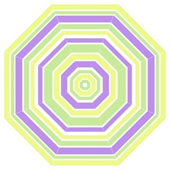 Yellow Purple Green Stripes Folding Umbrellas by BrightVibesDesign