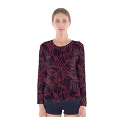 Sharp Tribal Pattern Women s Long Sleeve Tee by dflcprintsclothing
