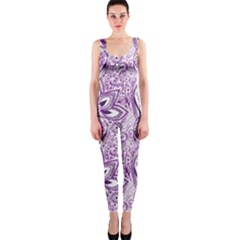 Purple Paisley Doodle Onepiece Catsuit by KirstenStar