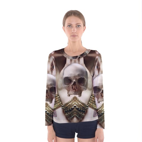 Skull Magic Women s Long Sleeve Tee by icarusismartdesigns
