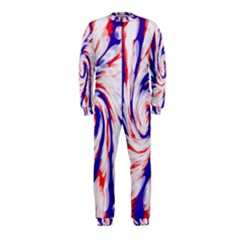 Groovy Red White Blue Swirl Onepiece Jumpsuit (kids) by BrightVibesDesign