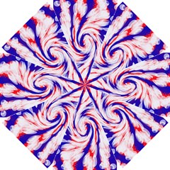 Groovy Red White Blue Swirl Straight Umbrellas by BrightVibesDesign
