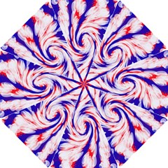 Groovy Red White Blue Swirl Golf Umbrellas by BrightVibesDesign