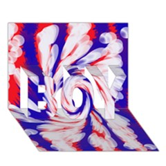 Groovy Red White Blue Swirl Boy 3d Greeting Card (7x5) by BrightVibesDesign