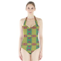 Oregon Delight Women s Halter One Piece Swimsuit by MRTACPANS