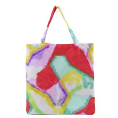 Watercolors Shapes                                         Grocery Tote Bag by LalyLauraFLM