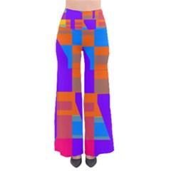 Misc Colorful Shapes                          Women s Chic Palazzo Pants by LalyLauraFLM