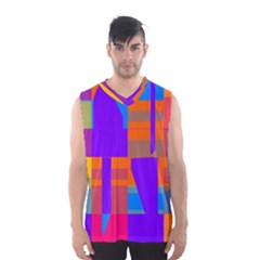 Misc Colorful Shapes                                           Men s Basketball Tank Top by LalyLauraFLM