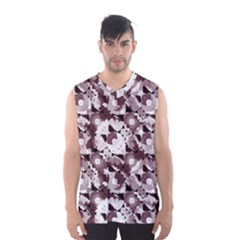 Ornate Modern Floral Men s Basketball Tank Top by dflcprintsclothing