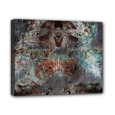 Metallic Copper Patina Urban Grunge Texture Canvas 10  X 8  (stretched) by CrypticFragmentsDesign