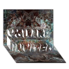 Metallic Copper Patina Urban Grunge Texture You Are Invited 3d Greeting Card (7x5) by CrypticFragmentsDesign