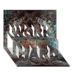 Metallic Copper Patina Urban Grunge Texture Work Hard 3d Greeting Card (7x5) by CrypticFragmentsDesign