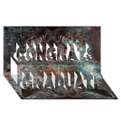 Metallic Copper Patina Urban Grunge Texture Congrats Graduate 3d Greeting Card (8x4) by CrypticFragmentsDesign
