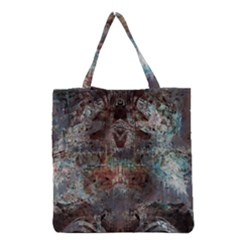 Metallic Copper Patina Urban Grunge Texture Grocery Tote Bag by CrypticFragmentsDesign