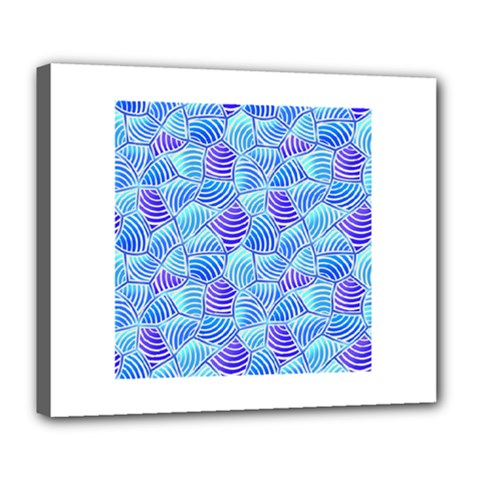 Blue And Purple Glowing Deluxe Canvas 24  X 20   by FunkyPatterns