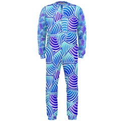 Blue And Purple Glowing Onepiece Jumpsuit (men)