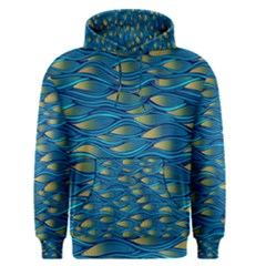 Blue Waves Men s Pullover Hoodie by FunkyPatterns