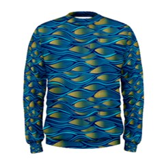 Blue Waves Men s Sweatshirt by FunkyPatterns