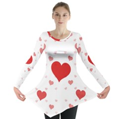 Red Hearts 2 Long Sleeve Tunic