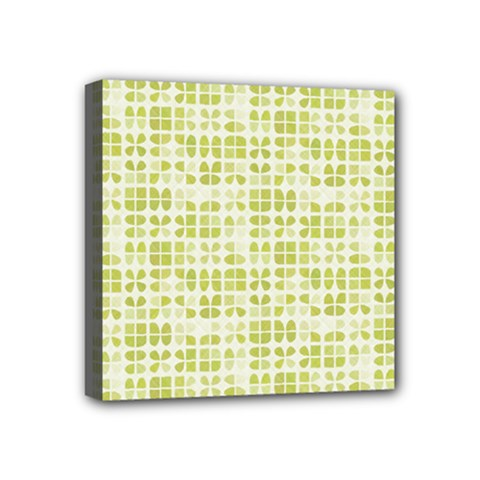 Pastel Green Mini Canvas 4  X 4  by FunkyPatterns