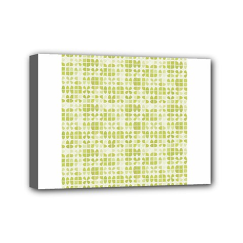Pastel Green Mini Canvas 7  X 5  by FunkyPatterns