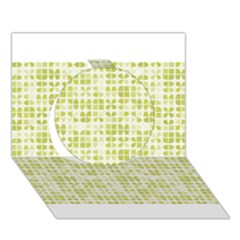 Pastel Green Circle 3d Greeting Card (7x5)  by FunkyPatterns