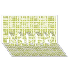 Pastel Green Sorry 3d Greeting Card (8x4)  by FunkyPatterns