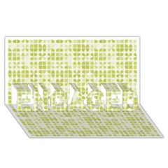 Pastel Green Engaged 3d Greeting Card (8x4)  by FunkyPatterns