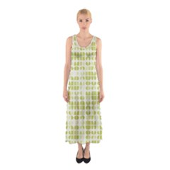 Pastel Green Sleeveless Maxi Dress by FunkyPatterns