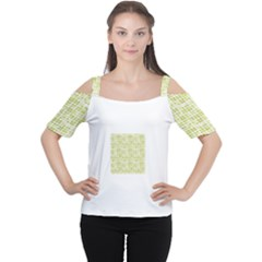 Pastel Green Women s Cutout Shoulder Tee by FunkyPatterns