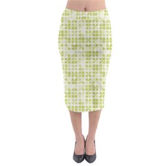 Pastel Green Midi Pencil Skirt by FunkyPatterns