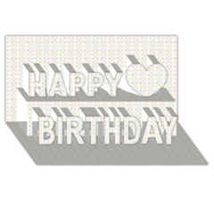 Pastel Pattern Happy Birthday 3d Greeting Card (8x4)  by FunkyPatterns