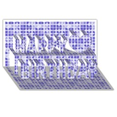 Pastel Purple Happy Birthday 3d Greeting Card (8x4)  by FunkyPatterns