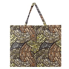 Whimsical Zipper Large Tote Bag by FunkyPatterns