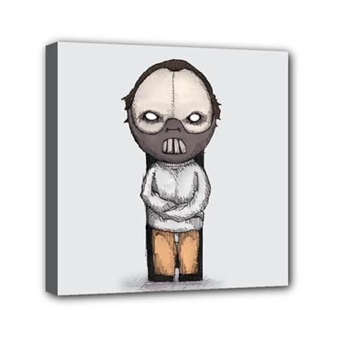 Dr  Lecter Mini Canvas 6  X 6  by lvbart