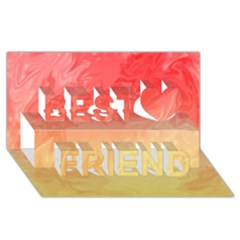 Ombre Orange Yellow Best Friends 3d Greeting Card (8x4)  by BrightVibesDesign
