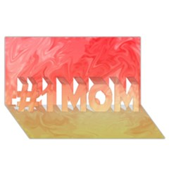 Ombre Orange Yellow #1 Mom 3d Greeting Cards (8x4)  by BrightVibesDesign